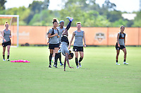 Houston, TX - Friday Oct. 07, 2016: Washington Spirit, Crystal Dunn during training prior to the National Women's Soccer League (NWSL) Championship match between the Washington Spirit and the Western New York Flash at Houston Sports Park.