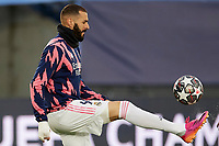 April 27th 2021; Alfredo Di Stefano Stadium, Madrid, Spain;  Karim Benzema of Real Madrid warms up during the Champions League match, semifinals between Real Madrid and Chelsea FC played at Alfredo Di Stefano Stadium