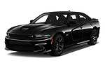 2018 Dodge Charger R/T Scat Pack 4 Door Sedan angular front stock photos of front three quarter view