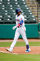 Tennessee Smokies second baseman Christopher Morel (11) makes his way to the dugout during the game against the Montgomery Biscuits on May 9, 2021, at Smokies Stadium in Kodak, Tennessee. (Danny Parker/Four Seam Images)