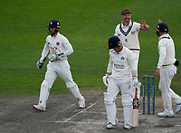 6th July 2021; Emirates Old Trafford, Manchester, Lancashire, England; County Championship Cricket, Lancashire versus Kent, Day 3; Rob Jones of Lancashire walks away caught at slip by Darren Stevens of Kent off the bowling of James Logan