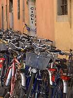 bicycle rental shop Lucca, Tuscany, Ital