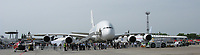 Berlin Germany- May 29, 2008 File Photo -<br /> <br /> people line up to view an <br /> Airbus A380, during ILA 2008:
