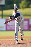 Starting pitcher Kelvin De La Cruz (45) of the Lake County Captains in action at Fieldcrest Cannon Stadium in Kannapolis, NC, Wednesday July 2, 2008. (Photo by Brian Westerholt / Four Seam Images)