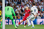 Arjen Robben (L) of FC Bayern Munich competes for the ball with Sergio Ramos (R) of Real Madrid during their 2016-17 UEFA Champions League Quarter-finals second leg match between Real Madrid and FC Bayern Munich at the Estadio Santiago Bernabeu on 18 April 2017 in Madrid, Spain. Photo by Diego Gonzalez Souto / Power Sport Images