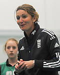England Womans Captain Charlotte Edwards giving instructions to the kids ..Cowbridge Comprehensive School Girls Cricket Club with England Womans Captain Charlotte Edwards and Heather Knight - 16th April 2013 - Cricket Wales -  Cowbridge - Vale of Glamorgan..© www.sportingwales.com- PLEASE CREDIT IAN COOK
