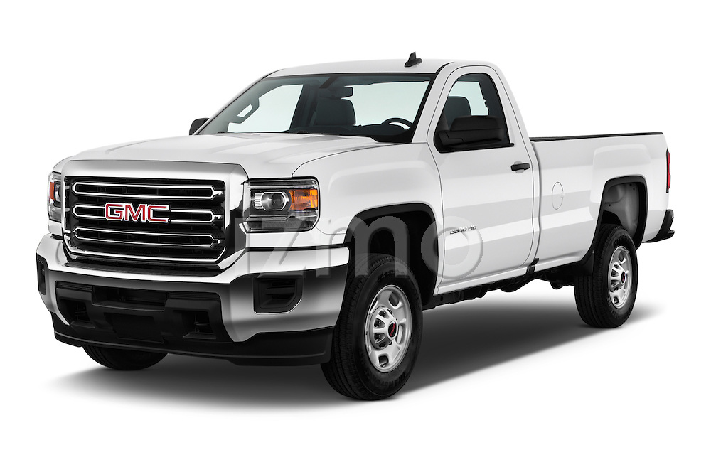 2018 GMC Sierra-2500HD 2WD-Regular-Cab-Long-Box 2 Door Pick-up Angular Front stock photos of front three quarter view