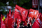 Supporters gather outside of the PSOE (Spanish Socialist Workers's Party) headquarters in Madrid, Spain. Spaniards go to the polls to elect 350 members of the parliament and 208 senators this Sunday. This will be the 13th General Election since the transition to democracy resulting in the Constitution of 1978. There are five main parties: the two traditional parties are the right-wing Partido Popular (People's Party) and the centre-left Partido Socialista Obrero Espanol or PSOE (Spanish Socialist Workers's Party), along with right-wing parties Ciudadanos (Citizens) and VOX and the left wing party, Podemos (We Can). April 28, 2019.April 28, 2019. (ALTERPHOTOS/A. Perez Meca)