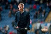 BLACKBURN, ENGLAND - JANUARY 24:   Garry Monk, Manager of Swansea City looks unhappy during the FA Cup Fourth Round match between Blackburn Rovers and Swansea City at Ewood park on January 24, 2015 in Blackburn, England.  (Photo by Athena Pictures/Getty Images)