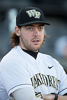 Will Craig (22) of the Wake Forest Demon Deacons prior to the game against the Georgetown Hoyas at David F. Couch Ballpark on February 19, 2016 in Winston-Salem, North Carolina.  The Demon Deacons defeated the Hoyas 3-1.  (Brian Westerholt/Four Seam Images)