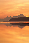 Sunset over Mount Iliamna, Cook Inlet, Alaska