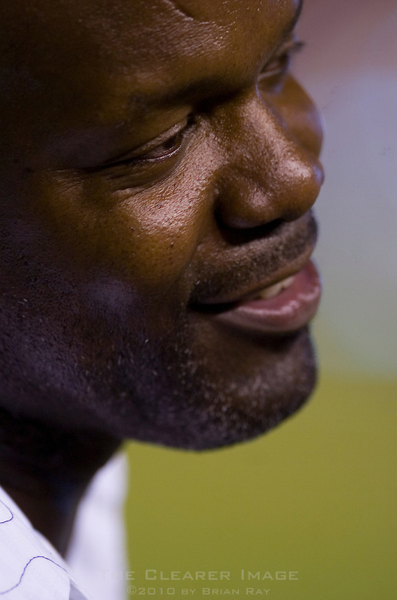 09 September 2006: Football great and television personality Emmitt Smith chats with fans on the sidelines during the Texas Longhorns 24-7 loss to the Ohio State Buckeyes at Darrell K Royal Memorial Stadium in Austin, TX.