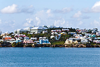 Waterfront pastel houses, Bermuda