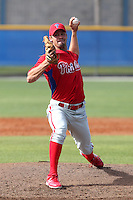 Philadelphia Phillies pitcher Adam Morgan #44 delivers a pitch during a minor league spring training game against the Toronto Blue Jays at the Englebert Minor League Complex on March 24, 2012 in Dunedin, Florida.  (Mike Janes/Four Seam Images)
