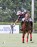 WELLINGTON, FL - APRIL 25:  Facundo Pieres of Orchard Hill takes control of the ball, as Valiente defeats Orchard Hill 13-12, in OT,  in the US Open Polo Championship Final, to win the U. S. Polo Triple Crown, at the International Polo Club Palm Beach, on April 25, 2017 in Wellington, Florida. (Photo by Liz Lamont/Eclipse Sportswire/Getty Images)