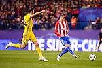 Atletico de Madrid's player Fernando Torres and CF Rostov's player Igor Kireev during a match of UEFA Champions League at Vicente Calderon Stadium in Madrid. November 01, Spain. 2016. (ALTERPHOTOS/BorjaB.Hojas)