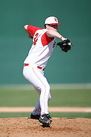 February 21, 2009:  Pitcher Brendan Lobban (34) of St. John's University during the Big East-Big Ten Challenge at Jack Russell Stadium in Clearwater, FL.  Photo by:  Mike Janes/Four Seam Images