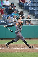 Steven Linkous (7) of the Boise Hawks bats against the Everett AquaSox at Everett Memorial Stadium on July 20, 2017 in Everett, Washington. Everett defeated Boise, 13-11. (Larry Goren/Four Seam Images)