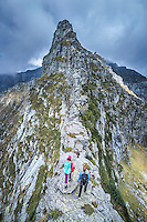 The Via Alta Verzasca is a five day ridge traverse hike above the Valle Verzasca in the Ticino region of Switzerland. In places the route stays right on a steep, exposed ridge line.