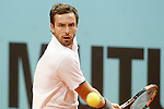 Ernets Gulbis during Madrid Open Tennis 2015 match.May, 4, 2015.(ALTERPHOTOS/Acero)