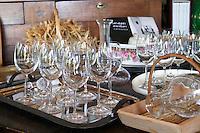 Domaine Peyre Rose, St Pargoire. Gres de Montpellier. Languedoc. France. Europe. Wine glass.
