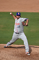 St. Lucie Mets pitcher Rob Whalen (38) delivers a pitch during a game against the Fort Myers Miracle on April 19, 2015 at Hammond Stadium in Fort Myers, Florida.  Fort Myers defeated St. Lucie 3-2 in eleven innings.  (Mike Janes/Four Seam Images)