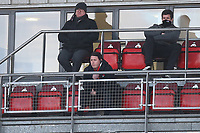 Leyton Orient manager Ross Embleton (C) looks on from the gantry during Leyton Orient vs Forest Green Rovers, Sky Bet EFL League 2 Football at The Breyer Group Stadium on 23rd January 2021