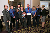 The team from Nottingham Train Station, winners of the East Midlands Trains Most Improved Station