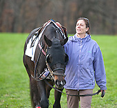Emily Day and Triple Dip in the paddock before the Choate.