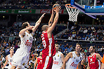 Real Madrid and Crvena Zvezda Telekom during Euroligue Basketball at Barclaycard Center in Madrid, October 22, 2015<br /> Sergio Rodriguez and Zirbes.<br /> (ALTERPHOTOS/BorjaB.Hojas)