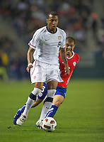Carson, Ca-January 22, 2010: Teal Bunbury of the USA men's national team during a 1-1 tie with Chile at the Home Depot Center in Carson, California.