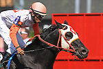 May 15, 2015: Ben's Cat, Julien Pimentel up, wins the Jim McKay Turf Sprint at Pimlico Race Course in Baltimore, MD. Trainer is King Leatherbury, owner is the Jim Stable. Joan Fairman Kanes/ESW/CSM