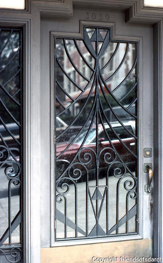 San Francisco: 3030 Larkin, Door detail.   Photo '84.