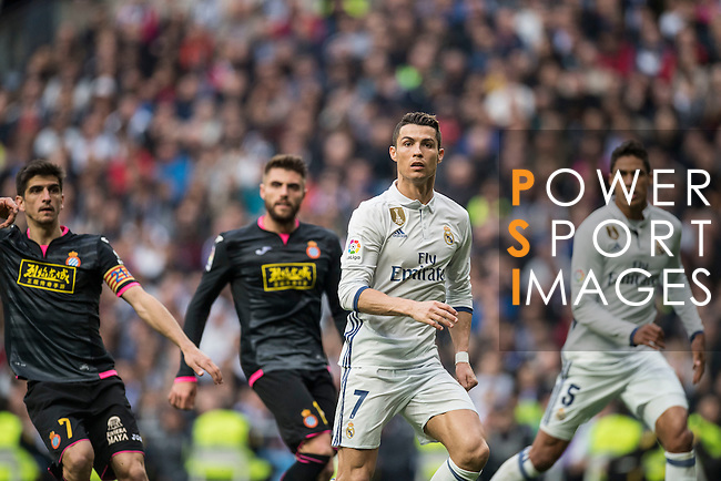 Cristiano Ronaldo of Real Madrid  during the match Real Madrid vs RCD Espanyol, a La Liga match at the Santiago Bernabeu Stadium on 18 February 2017 in Madrid, Spain. Photo by Diego Gonzalez Souto / Power Sport Images