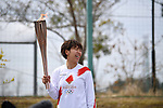 Azusa Iwashimizu participates in the Tokyo 2020 Olympic Torch Relay at Fukushima National Training Center J-Village on March 25, 2021, in Fukushima Prefecture, Japan.<br /> The Torch Relay will last 121 days and visit all of Japan's 47 prefectures. (Photo by MATSUO.K/AFLO SPORT)