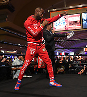 LAS VEGAS - JULY 17: Yordenis Ugas attends the media workout for the PBC on Fox Sports Pay-Per-View at the MGM Grand on July 17, 2019 in Las Vegas, Nevada. (Photo by Frank Micelotta/Fox Sports/PictureGroup)