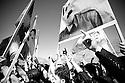 Iraq 2010  .Supporters of PKK celebrating Nowruz in Qandil with portraits of their leader Abdullah Ocalan .<br /> <br /> Irak 2010 .Sympathisants du PKK celebrant Nowruz a Qandil avec des portraits de Abdullah Ocalan  <br /> <br /> عیراق 2010 ، قه ندیل: لایه نگه رانی پ .ک.ک به پورتره و وینه ی عه بدوللا ئوجه لان ، جیژنی نه وروزیان پیروز ده که ن