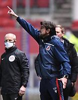 16th February 2021; Ashton Gate Stadium, Bristol, England; English Football League Championship Football, Bristol City versus Reading; Veljko Paunovic Manager of Reading gestures