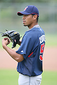 March 20th 2008:  Mark Rodrigues of the Cleveland Indians minor league system during Spring Training at Chain of Lakes Training Complex in Winter Haven, FL.  Photo by:  Mike Janes/Four Seam Images
