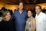 From left: Cindy Cliford, David Bray, Ellen Feely and Jason Fuller at the Luck of the Draw benefit at Diverse Works Wednesday July  01, 2009. (Dave Rossman/ For the Chronicle)