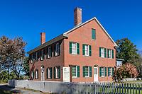Wright House in historic Deerfield, Massachusetts, USA.