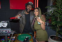 LOS ANGELES - APRIL 8:  DJ ER and Mariana Velletto at Mariana Velletto Listening Event inside Kevin Hart's HartBeat Studios in Los Angeles, CA on April 8, 2021. (Photo by Adrian Sidney/PictureGroup)