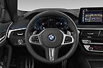 Car pictures of steering wheel view of a 2021 BMW 5-Series 530e-Edition-M-Sport 4 Door Sedan Steering Wheel