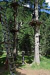 Austria, Tyrol, Stubai Valley, high rope course