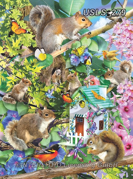 Lori, REALISTIC ANIMALS, REALISTISCHE TIERE, ANIMALES REALISTICOS, zeich, paintings+++++Rectangular Squirrel Puzzle_1_72,USLS279,#a#, EVERYDAY ,puzzle,puzzles