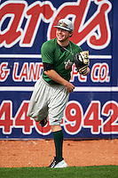 Fort Wayne TinCaps pitcher Colby Blueberg (4) throws in the outfield before a game against the Lake County Captains on May 20, 2015 at Classic Park in Eastlake, Ohio.  Lake County defeated Fort Wayne 4-3.  (Mike Janes/Four Seam Images)