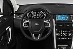 Car pictures of steering wheel view of a 2016 Land Rover Discovery Sport HSE Luxury 5 Door Suv Steering Wheel