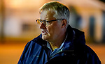 April 24, 2021: Garrett O'Rourke, manager of Juddmonte Farms during morning works for the Kentucky Derby. (Scott Serio/Eclipse Sportswire/CSM)