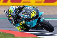 27th August 2021; Silverstone Circuit, Silverstone, Northamptonshire, England; MotoGP British Grand Prix, Practice Day; Petronas Yamaha SRT rider Franco Valentino Rossi on his Yamaha YZR-M1