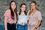 Enjoying the evening in Benners on Saturday, l to r: Rachel, Chloe and Kelly Coffey.